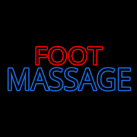 Foot With Double Stroke Massage Handmade Art Neon Sign