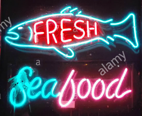 Fresh Sea Food Neon sign