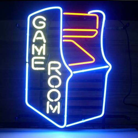 Professional  Gameroom Retro Shop Open Neon Sign