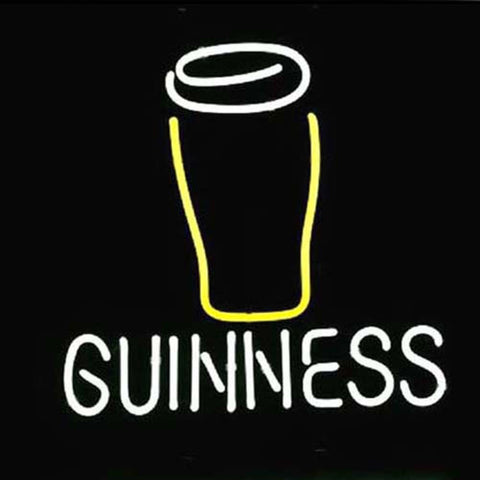 Professional  Guinness Glass Logo Neon Sign
