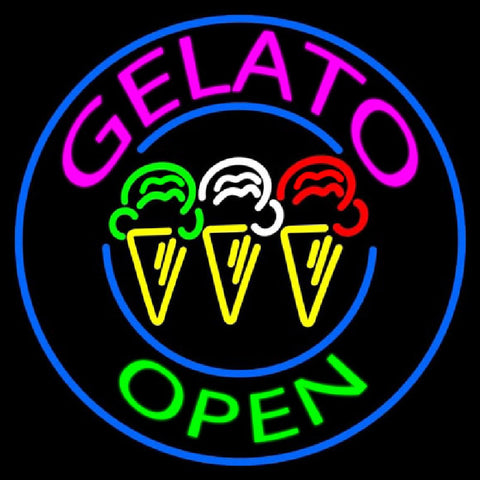 Gelato Handmade Art Neon Sign