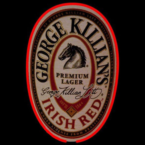 George Killians Irish Red Beer Sign Handmade Art Neon Sign