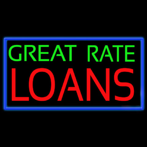 Great Rate Loans Handmade Art Neon Sign