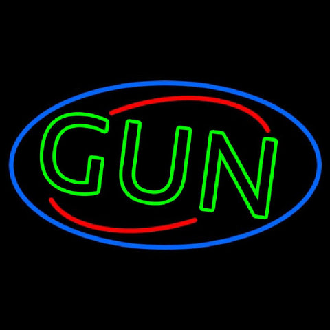 Green Gun Handmade Art Neon Sign