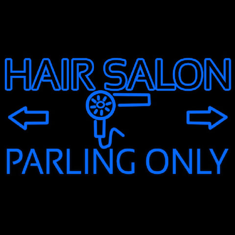 Hair Salon Parking Only Handmade Art Neon Sign