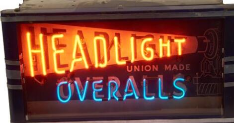 Headlight Overalls Handmade Art Neon Signs