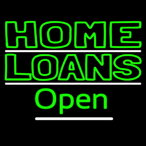 Home Loans Open Handmade Art Neon Sign