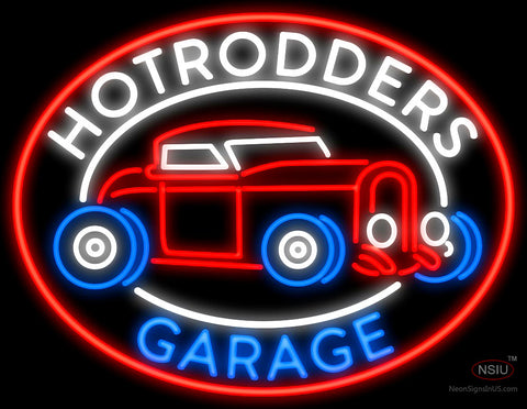 Hotrodders Garage Neon Sign