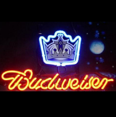 Nhl Budweiser La Kings Beer Bar Neon Light Sign
