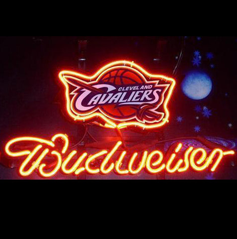 Nba Budweiser Cleveland Cavaliers Beer Bar Neon Light Sign