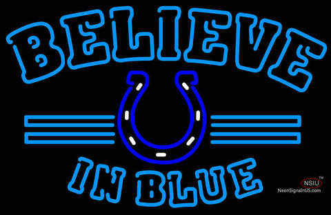 Indianapolis Colts Believe In Blue NFL Neon Sign