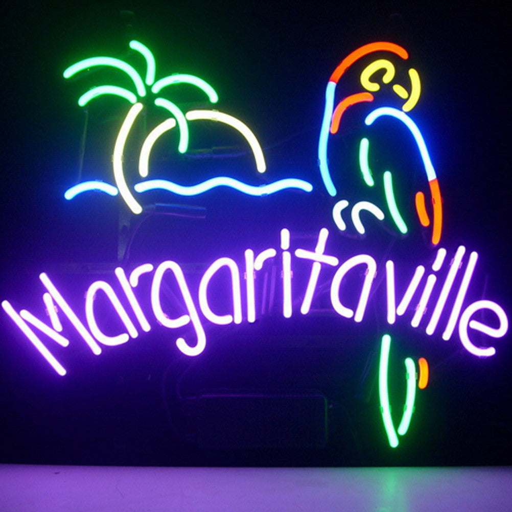 Barbeer neon signs neonsigns usa inc professional jimmy buffett margaritaville paradise parrot beer bar open neon signs aloadofball Gallery