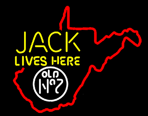 Jack Lives here West Virginia Neon Sign
