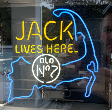 Jack lives here Cape Cod neon sign