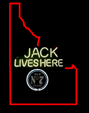 Jack lives here Idaho neon sign