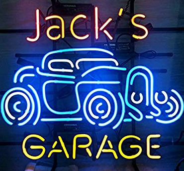 Jack's garage Real Neon Glass Tube Neon Signs