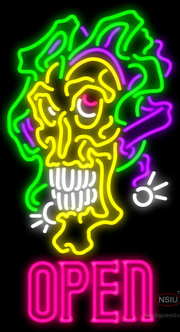 Jesters Skull Tattoo Neon Sign