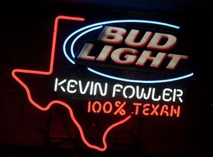 Kevin Fowler Bud Light Neon Sign