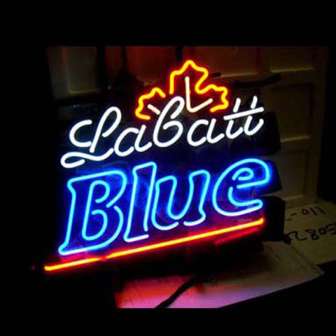 Professional  Labatt Blue Beer Bar Open Neon Signs