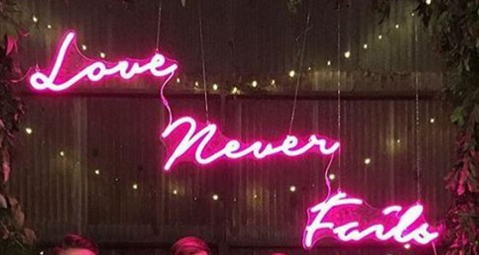 Love Never Fails Real Neon Glass Tube Neon Signs