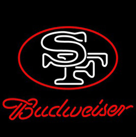 Nfl Budweiser San Francisco 49Ers Beer Bar Neon Light Sign