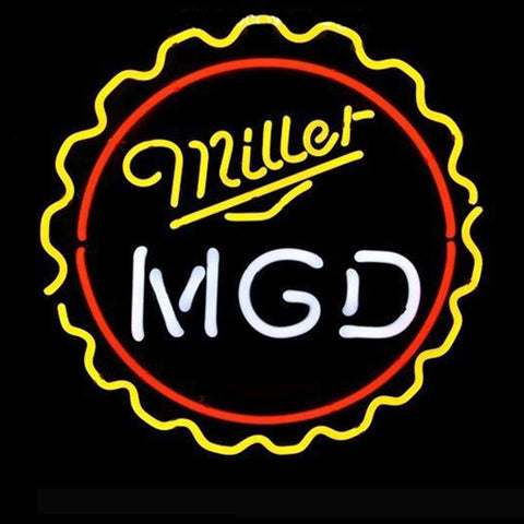 Professional  Mgd Miller Lite Genuine Draft Man Pub Display Beer Real Neon Sign Gift