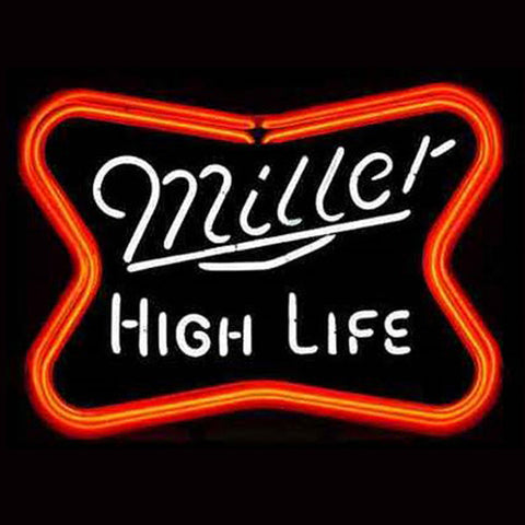 Professional  Miller High Life Beer  Bar Open Neon Signs