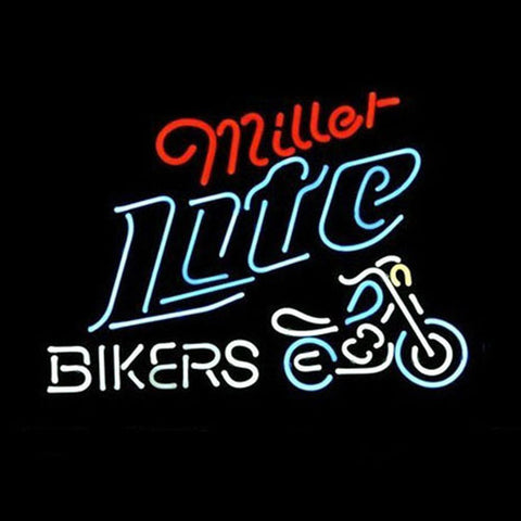 Professional  Miller Lite Bike Bikers Bicycle Logo Neon Sign