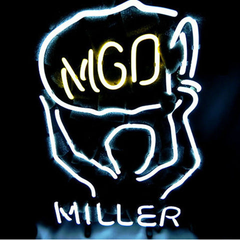Professional  Miller Lite Mgd Beer Bar Neon Sign