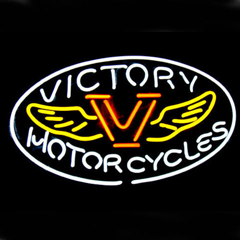 Professional  Motorcycles Victory Shop Open Neon Sign
