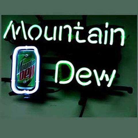Professional  Mountain Dew Soda Beer Bar Neon Sign