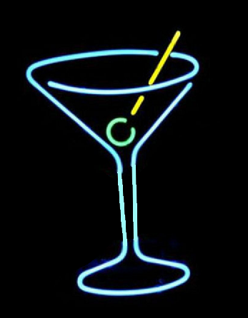 Martini Glass neon sign
