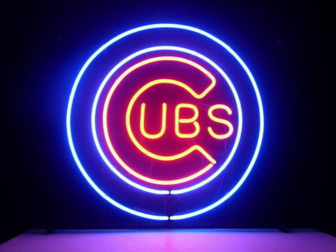 Mlb Chicago Cubs Baseball Neon Bar Pub Sign