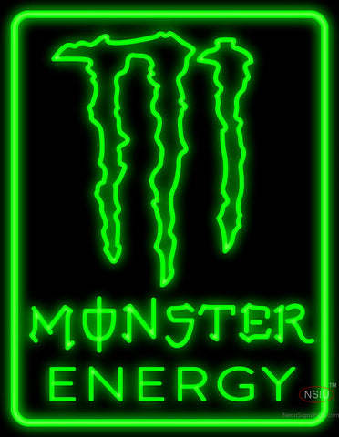 Monster Energy with Border Neon Sign