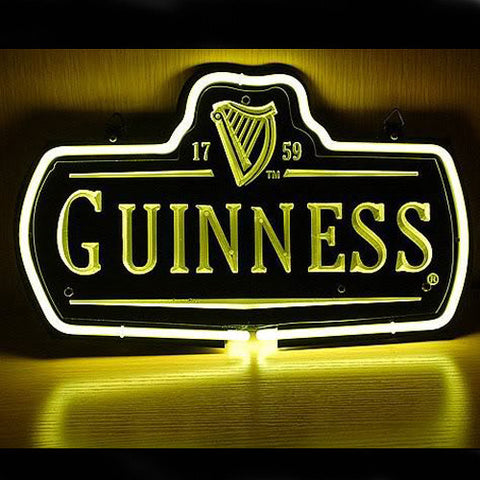 Professional  New Guinness 1759 Logo Beer Bar Pub Display Real Neon Gas Glass Tube Sign