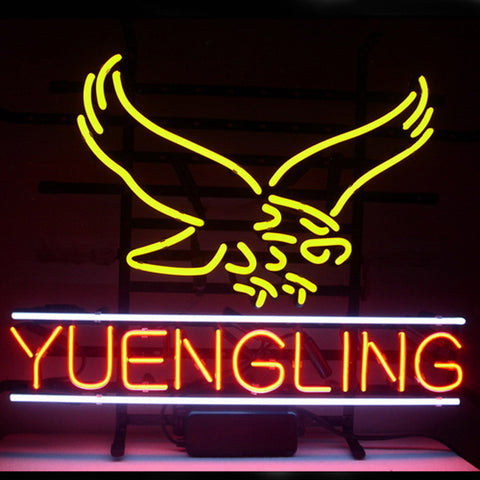 Professional  New Yuengling Lager Eagle Beer Real Neon Glass Beer Bar Pub Sign