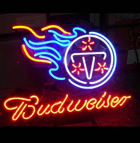 Nfl Tennessee Titans Budweiser Beer Bar Club Neon Light Sign