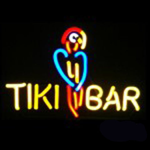 Neon Sculpture Tiki Bar Parrot Neon Signs