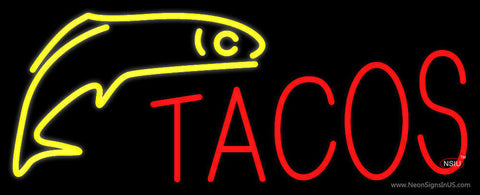 Red Tacos Logo Neon Sign