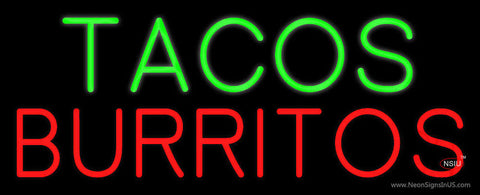 Oval Tacos Burritos Neon Sign
