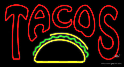Double Stroke Tacos Neon Sign