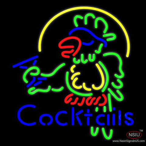 Cocktails Parrot - Beer Neon Sign