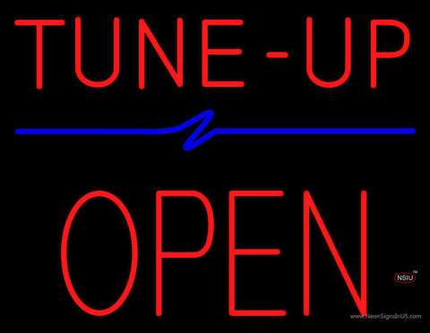 Red Tune-Up Open Block Neon Sign