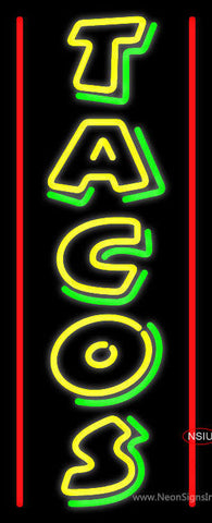 Double Stroke Yellow Tacos Neon Sign