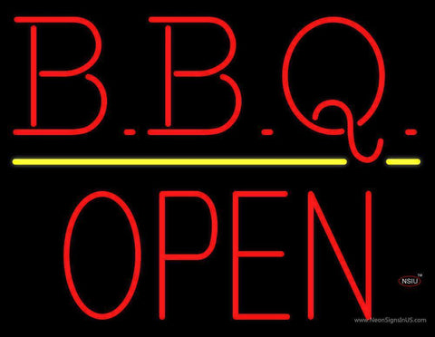 BBQ - Block Open Neon Sign
