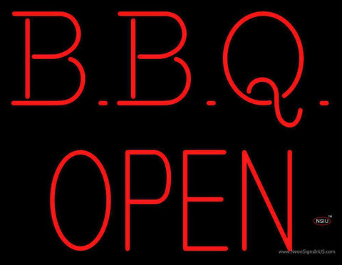 Block BBQ - Open Neon Sign