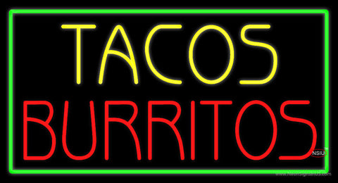 Tacos Burritos Neon Sign