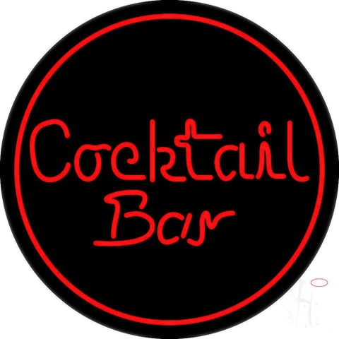 Round Cocktail Bar Neon Sign