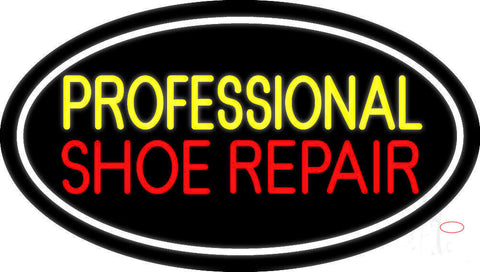 Yellow Professional Red Shoe Repair Neon Sign