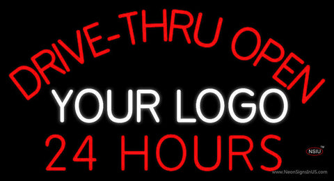 Custom Drive Thru Open  Hours Neon Sign